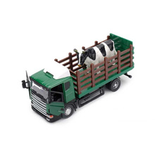 1/43 Scale Scania Farm Vehicle Cow Carrier Truck Car Diecast Car Model Car Kids Toys brinquedos Collectible boys Gifts