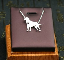 1PCs Summer fashion cute Labrador retriever necklace metal dog pendant jewelry Silver/gold colors plated