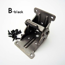 2X Steel Self Lock Extension Table Bed Leg Feet Folding Foldable Support Bracket B-black(China)