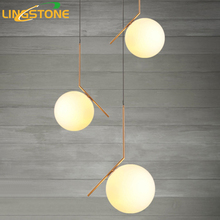 Modern Pendant Lights Suspension Luminaire Noveity Hanglamp For Home Lighting Led Vintage Pendant Lamp Glass Lampshade E27 Bulb(China)