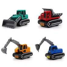 1:64 Car model Construction vehicles series kids toys Excavator Crusher Forklift truck A variety of styles to choose from(China)