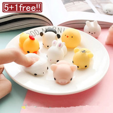 1pcs Finger Toys Squishy Mini Kawaii Squeeze Stretchy Animal Healing Antistress slime Toys stress gadget relief toys Stress ball