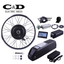 Ebike Kit Electric Bike Conversion Kit 48V500W Motor MXUS Brand 48V13AH Lithium super Bottle battery LED LCD Display Optional