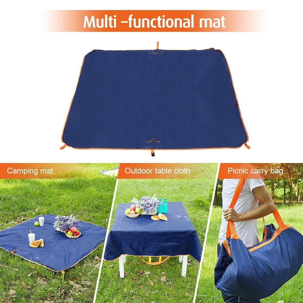 2 In 1 Tahan Air Piknik Selimut Foldable Tidur Kasur Pad Outdoor Tikar Kemah Campingtikar Lipat Matras Fondable Kantong Penyimpanan
