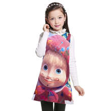 cartoon Masha And The Bear Kids girl Party Dress Summer sleeveless Children Clothes New 2017 Baby Girls dress princess 3-12Y(China)