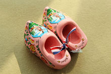 "2.5"" Netherlands Holland Wooden Shoes Tourist Souvenir Fridge Magnet Pastel Pink(China)"