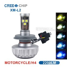 1 Set H4 CREE Chip LED Motorcycle Motorbike Headlight Far Near Light Kit Hi Lo Beam 3000LM 28W For Honda Halley Kawasaki Suzuki
