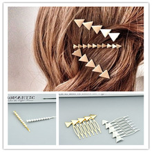 New fashion  Accessories Triangle arrow hairpin mix color  gift for women girl H324