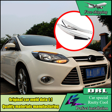 Car-styling Headlight Head Lamp LED Eyebrow Daytime Running Light Brow DRL With Yellow Turnning Light For Ford Focus 2012 - 2014