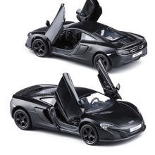 Mnotht Collection Car Model Black 1:36 Mclaren 650S Alloy Diecast Car Models Vehicles Pull Back Toy Cars Kids Gift l65