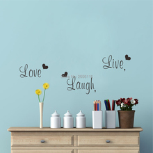 Inspirational Words DIY Wall Decal Live Laugh Love encourage Quotes Art Lettering Vinyl for Home Decor