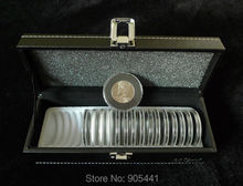 Coin Bescherming Holder Case Box (1 * Opbergdoos + 20 * Coin circulaire houders Set)(China)