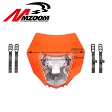 2015 16 Motorcycle Dirt Bike Motocross Supermoto Universal New Headlight For KTM SX EXC XCF SXF SMR Headlamp(China)