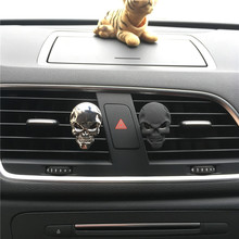 A metal skull of 4 colors Automobile styling Perfume clip Lady Metal Skull Automobile styling Ornament Air Freshener