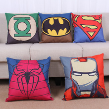 Super man  Iron Man Batman Spider-Man  Captain America Green Lantern bed and sofa cushion case without filling