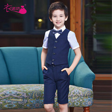 2017 Limited Direct Selling Solid Boys Short Formal T016 Boy Dress Suit Flower Girl Host Child Performance Big Vest Piano Small
