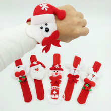5pcs Circle Xmas Children Gift Santa Claus Snowman Deer Party Toys Christmas Decorations New Year Party Wrist 5ZHH090(China)