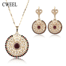 Statement Necklace Jewelry Sets African Fashion Big Women Wedding Pendant  Earring Gorgeous Vintage Costume Jewellery Set