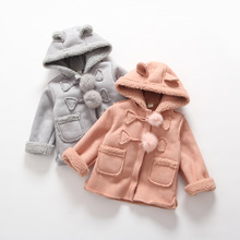 Casaco infantil baby coat outwear roupa infantil feminina cute baby lamb jacket infant girl hoody cardigan trench coat winter