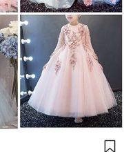 Free shipping Fashion Ball Gown O-Neck  long sleeve Applique Beaded Tulle Standard code