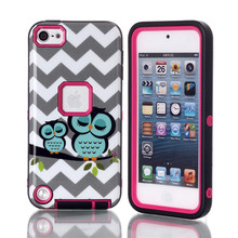 NEW pattern Case For ipod touch 5 Luxury Brushed PC+TPU Hard Cases Shockproof Back Cover For iPod Touch 5 5G 5th Generation Gen