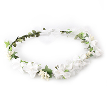 M MISM Summer Wedding Floral Crown Head Band female Flower Headband Bridesmaid Bridal Headpiece Girls Flowers hair accessories(China)