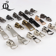 8# Wholesale 10pcs mix Zipper Sliders Metal Zipper Pulls zipper Head For Handbag/ Backpack/Clothing/Sewing Tailor Tools q15