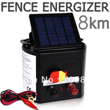 Horse Sheep Cattle Cow Goat Dog Solar Power Electric Fence Energizer with Adjustabl Solar Panel(China)
