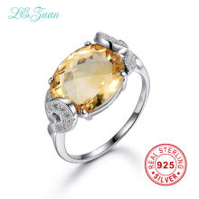 I&zuan 7.71ct Natural Citrine Rings Real 925 Sterling Silver Luxury Rings For Women Natural Gems mystic topaz Ring fine jewelry(China)