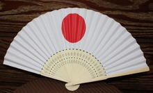[ Fly Eagle ] 100Pcs Japanese paper made SENSU folding fan, NIPPON HINOMARU design - 38 x 21cm