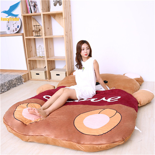 Fancytrader 2018 Giant Plush Stuffed Cartoon Love Bear Sofa Bed Sleeping Bed with Padding 2 Sizes (5)