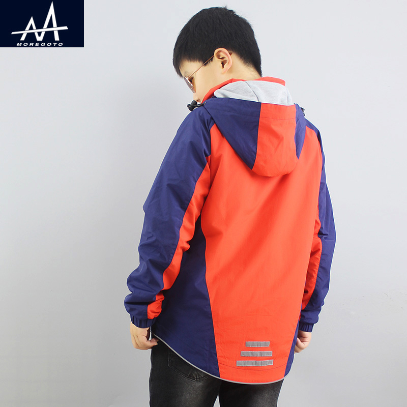 Spring Autumn Big Boy Jacket Child Outfit Jacket with Hood Fashion Childrens Coat Age 10 11 12 13 Years Outdoor Jacket for Boys<br>