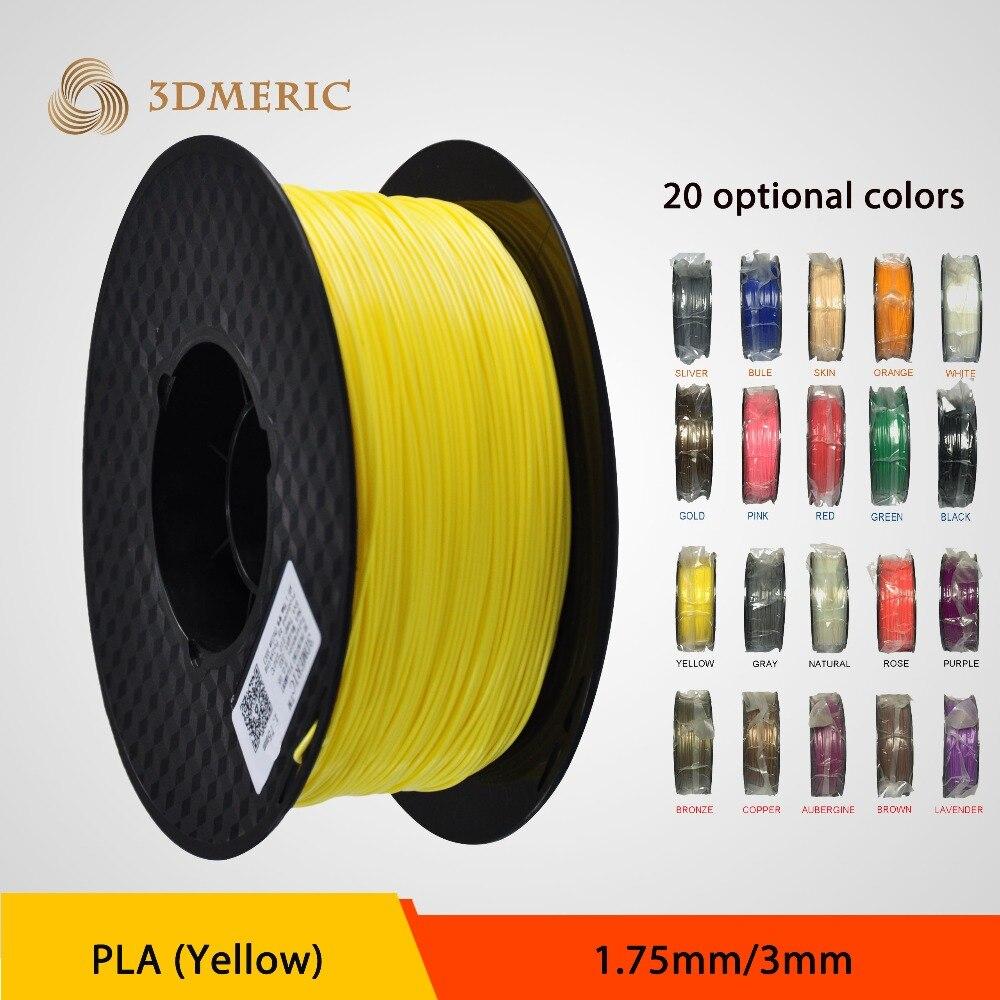 Yellow color 1.75/3mm PLA 3D printer filament 1kg plastic Rubber Consumables Material<br><br>Aliexpress