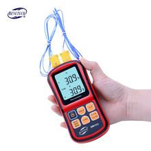 BENETECH GM1312 -50~300C Thermocouple Thermometer Dual-channel Digital Temperature Meter For K/J/T/E/R/S/N LCD Termometro(China)