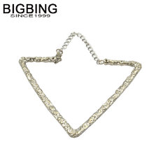 BIGBING  jewelry Fashion golden silver triangle bangle fashion jewelry good quality nickel free free shipping F020