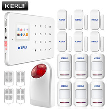 White Kerui G18 Home Security Alarm System in Alarm Gsm, 433 Mhz Motion Detector with Alarm House