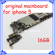 for iphone 5 original Circuits Board 100% work GSM version 16GB main board for iphone 5 5g unlock motherboard with chips