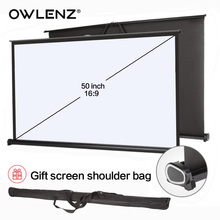 OWLENZ 50-inch 16:9 Laptop Expandable Mini Light Desktop HD Table Screen for Busines Meeting LED DLP Projector Micro Projection(China)
