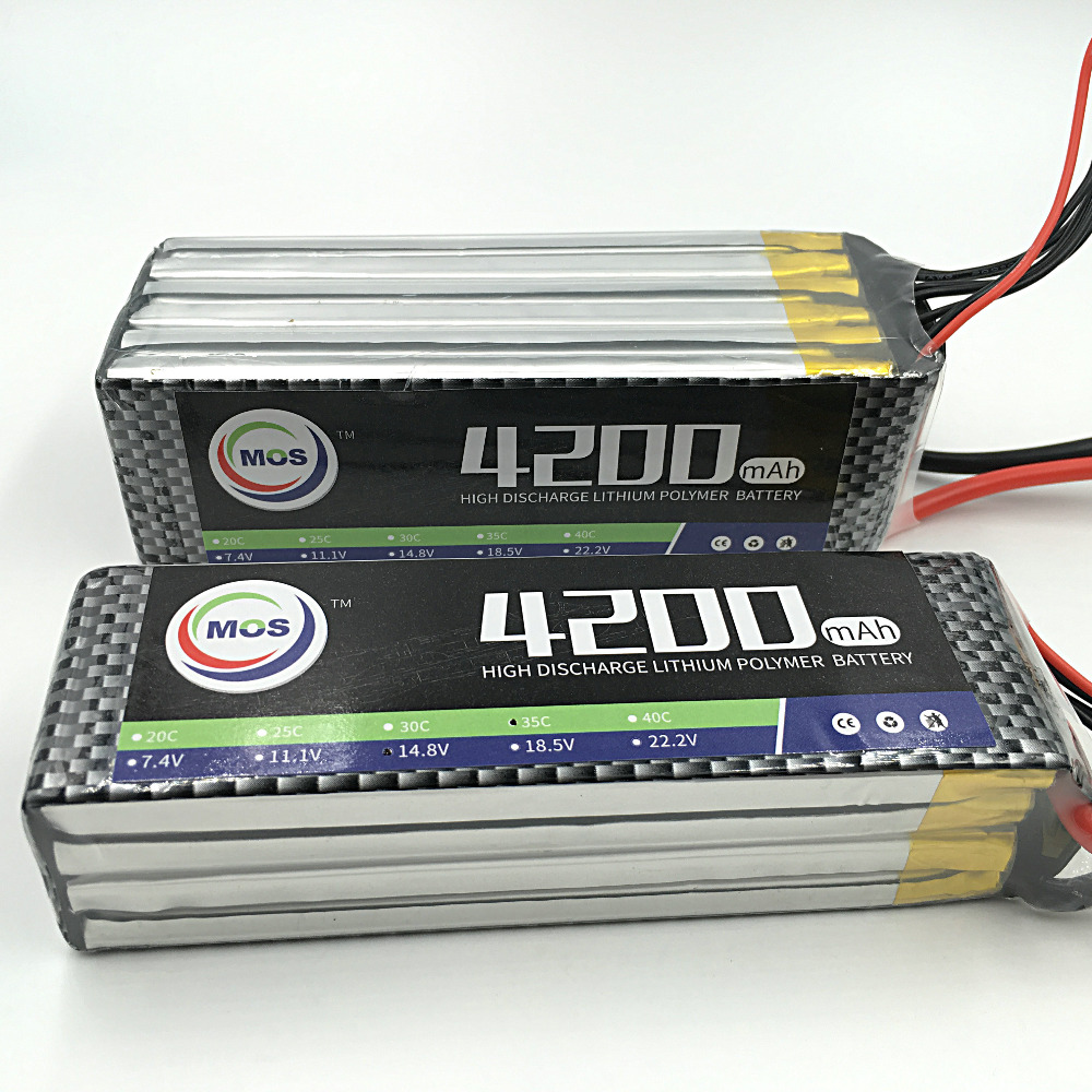MOS 4S 14.8v  4200 25c lipo battery for rc airplane free shipping<br>