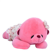 Kawaii Sleeping Teddy Bears Stuffed Toy Soft Pillow Dolls Baby Kids Toys Fresh Green Pink Bear Children Christmas Gifts