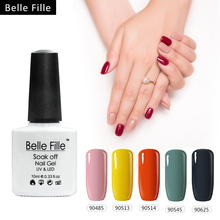 Belle Fille Nude Nail Gel Polish Soak Off LED UV Gels Long Lasting Varnish Beautiful Nails Art By Gel Polish Need UV LED Lamp(China)