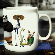 New Kung Fu Panda Family Ceramic Coffee Mug White Color Or Color Changed Cup ---Loveful