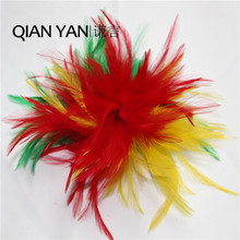 The beautiful handmade 2 colors feather flower is suitable for craft DIY decoration.Flower type can be folded into what you want