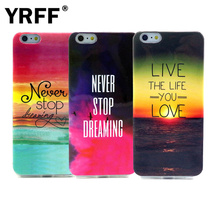 Newest TPU never stop Dreaming Phone Cases For iphone 6s 6 case elephant heart live the life you love for iphone 6 4.7 cover