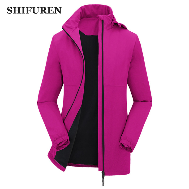 SHIFUREN Outdoor Sports Women Fleece Softshell Jackets Winter Warm Female Trekking Overcoat Hiking Jackets Plus Size M-3XL<br>