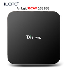 Buy iLEPO TX3 Pro Android 7.1 Amlogic S905W Quad Core 64 bit TV Box 1GB 8GB KD17.3 Support 2.4GHz Wifi 100M Smart IPTV Set top box for $37.99 in AliExpress store
