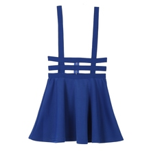 Hollow Women Ladies Skater Strap Skirt Suspender Skirt Mini Kawaii Pleated Skirt uSEFUL