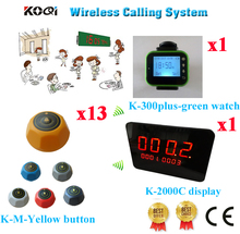 Wireless Restaurant Pager System Wireless Table Buzzer Call Bell hospital YCALL ( 1 display+ 1 watch+  13 call button)