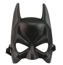 Halloween Batman Mask Adult Black Cosplay masque Mask Upper Half Face Mask For Man Cool Face Costume Kit Costume Accessory F2(China)