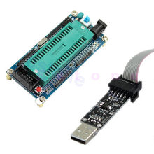 OOTDTY J34 1Set ISP ATMEGA16 ATmega32 Board + USBISP 3.3V / 5V AVR Download Programmer New